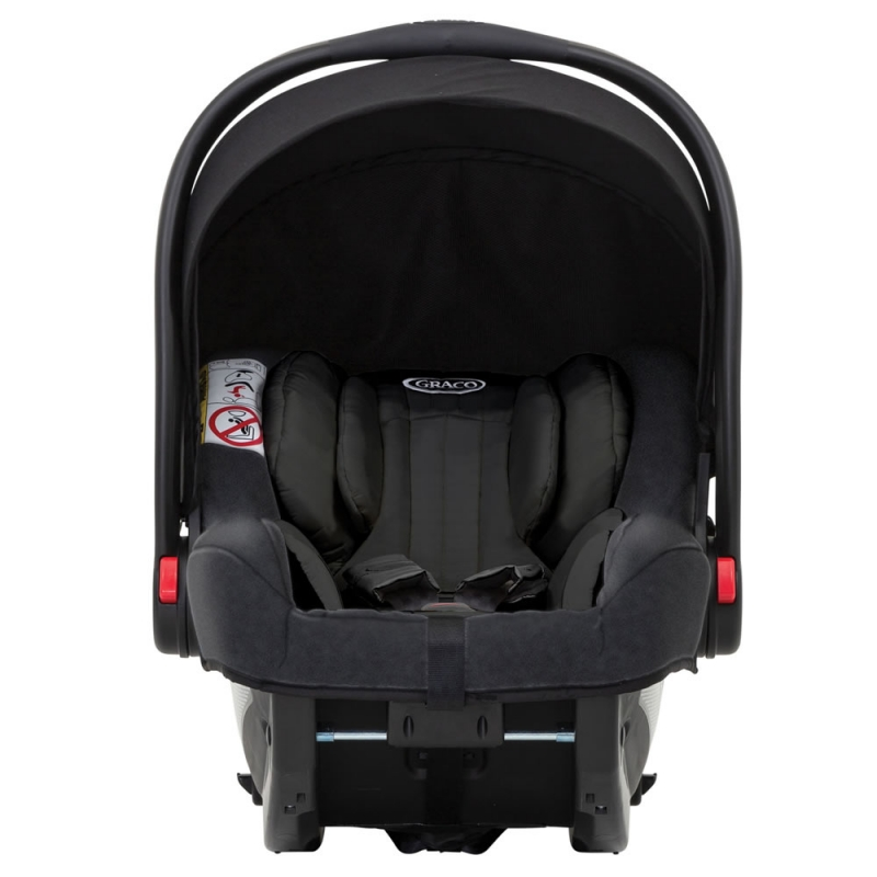 Graco Snugride I-Size Group 0+ Car Seat-Midnight Black