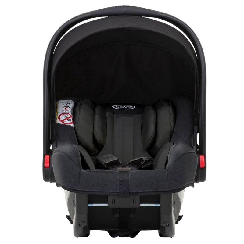 Graco Snugride I-Size Group 0+ Car Seat-Midnight Black