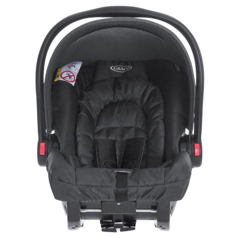 Graco Snugride R44.04 Group 0+ Car Seat-Midnight Black
