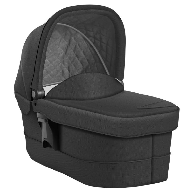 Graco Evo Luxury Carrycot-Black/Grey