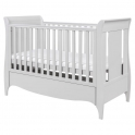 Tutti Bambini Roma Sleigh Cot Bed With Under Bed Drawer-Dove Grey + FREE Sprung Mattress Worth £69.99!