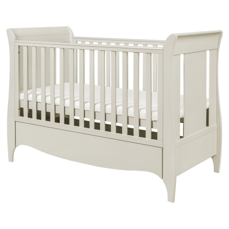 Tutti Bambini Roma Sleigh Cot Bed With Under Bed Draw-Linen