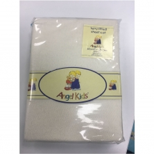 Angel Kids Cot Sheet Terry Fitted-Yellow