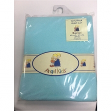 Angel Kids Cot Sheet Terry Fitted-Mint