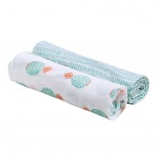 Bebe Au Lait Classic Muslin Swaddle Blanket Set-Oahu + Zig Zag