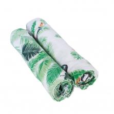 Bebe Au Lait Classic Muslin Swaddle Blanket Set-Rio + Palm