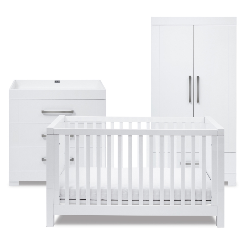 Silver Cross Notting Hill 3 Piece Room Set-White