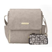 Petunia Pickle Bottom Boxy Backpack-Grey Matte Leatherette