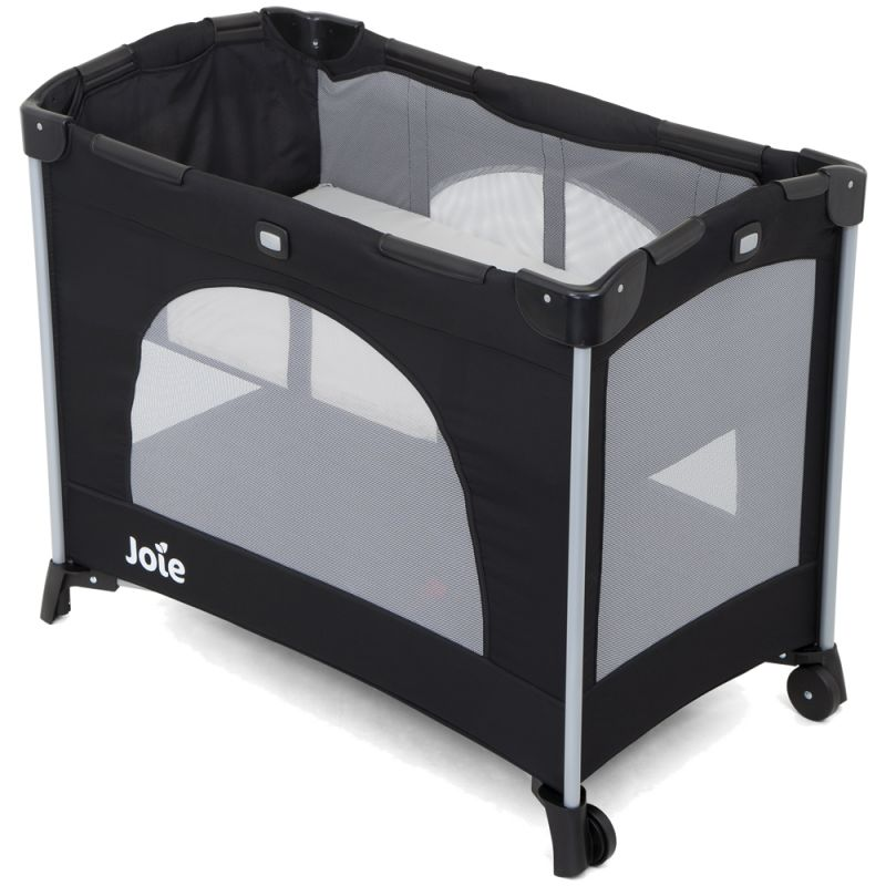 joie kubbie compact travel cot coal new 2019. Black Bedroom Furniture Sets. Home Design Ideas