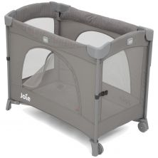 Joie Kubbie Sleep Compact Travel Cot Dropside-Foggy Grey (New 2019)