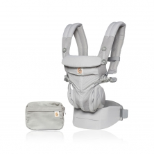 Ergobaby Omni 360 Cool Air Mesh Baby Carrier-Pearl Grey