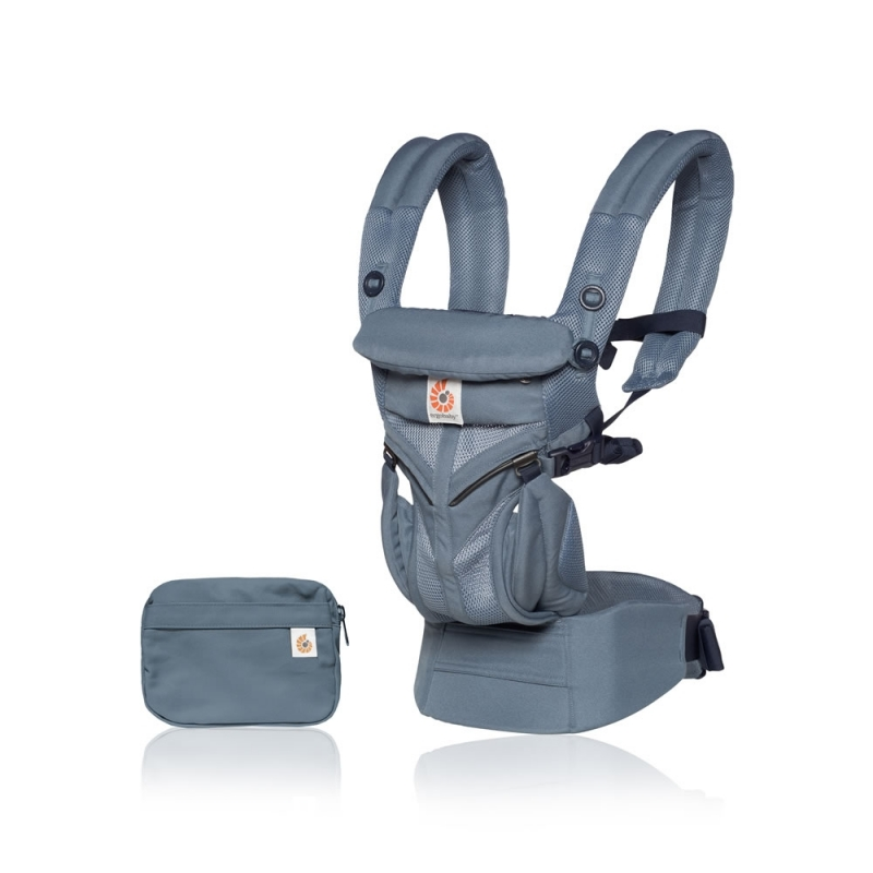 Ergobaby Omni 360 Cool Air Mesh Baby Carrier-Oxford Blue