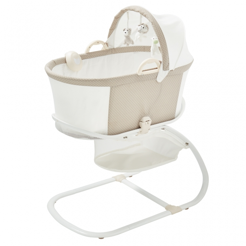 Purflo Purair Breathable Bassinet-Soft Truffle