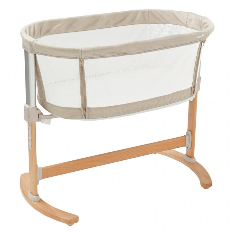 Purflo Purair Breathable Keep Me Close Bedside Crib-Natural