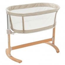 Purflo Purair Breathable Keep Me Close Bedside Crib-Natural