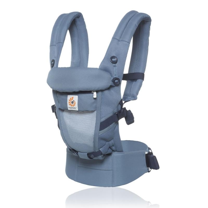 Ergobaby Original Adapt Cool Air Mesh Baby Carrier-Oxford Blue