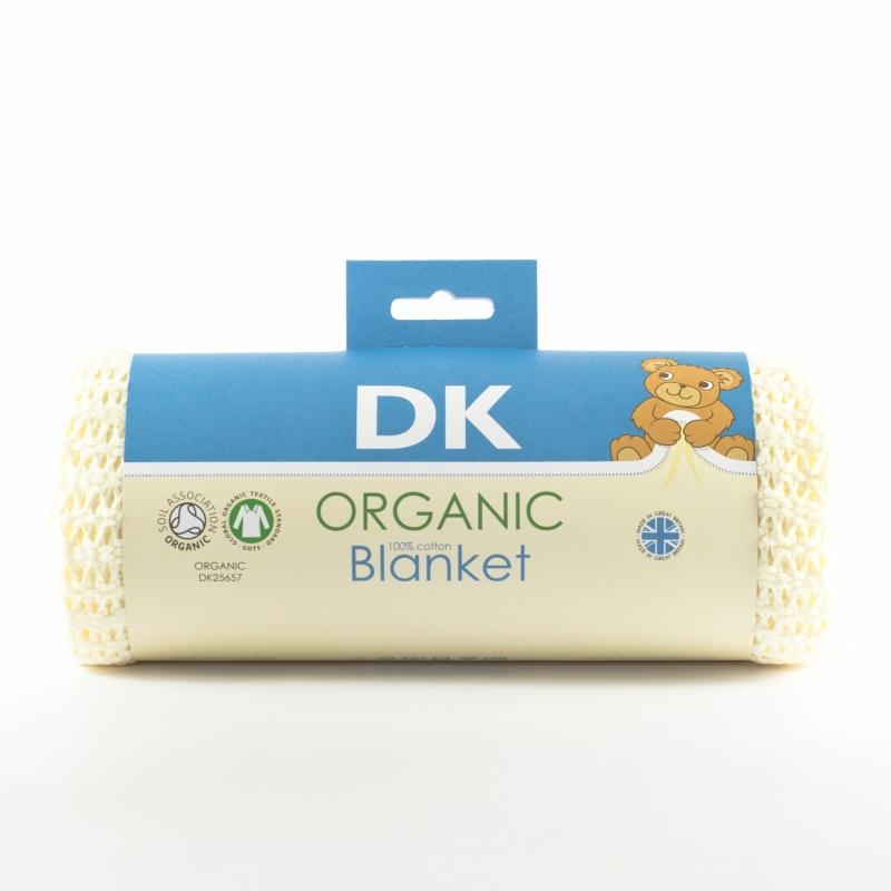 DK Glovesheets 100% Organic Kint Cotton Baby Blanket 100x75cm-Cream