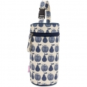 Pink Lining Bottle Holder-Apples and Pears Blue