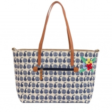 Pink Lining Nottinghill Tote-Apples and Pears Blue