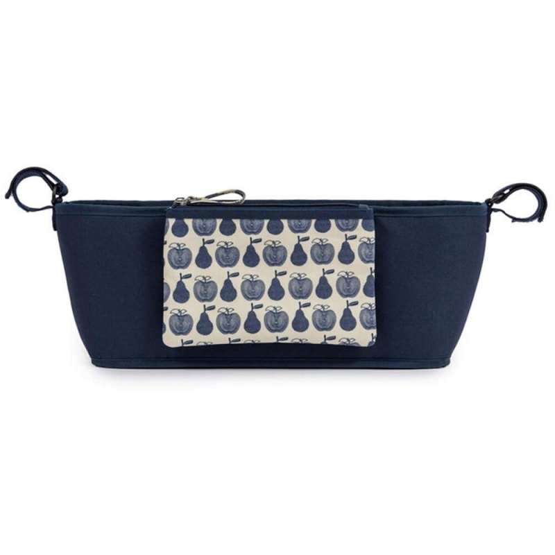 Pink Lining Stroller Organiser-Apples and Pears Blue