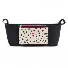 Pink Lining Stroller Organiser-Dalmatian Fever