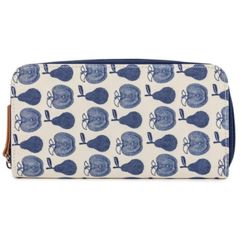 Pink Lining Wallet-Apples and Pears Blue
