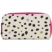 Pink Lining Wallet-Dalmatian Fever