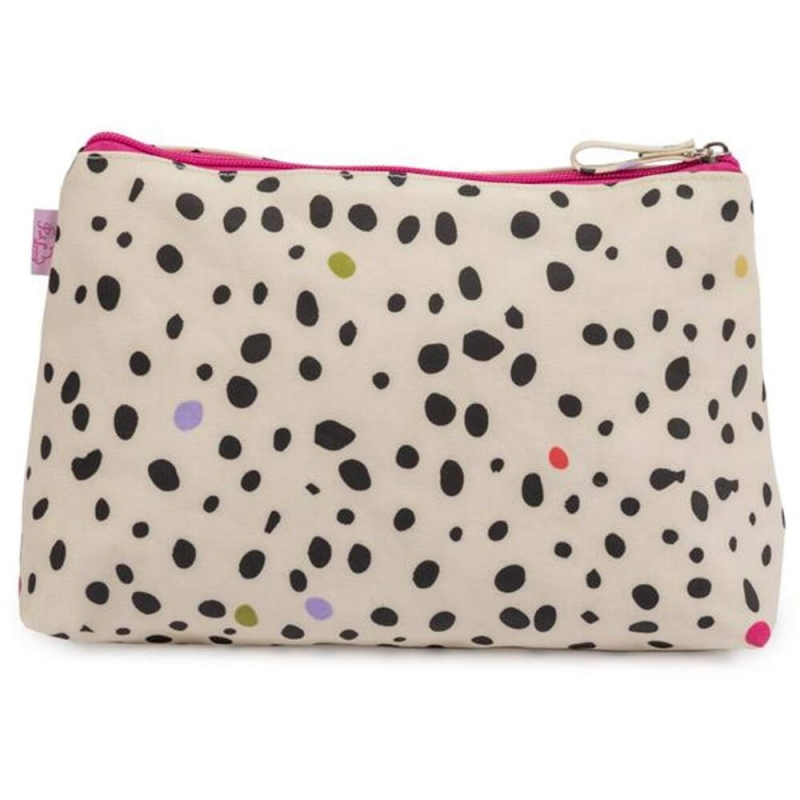 Pink Lining Wash Bag-Dalmatian Fever