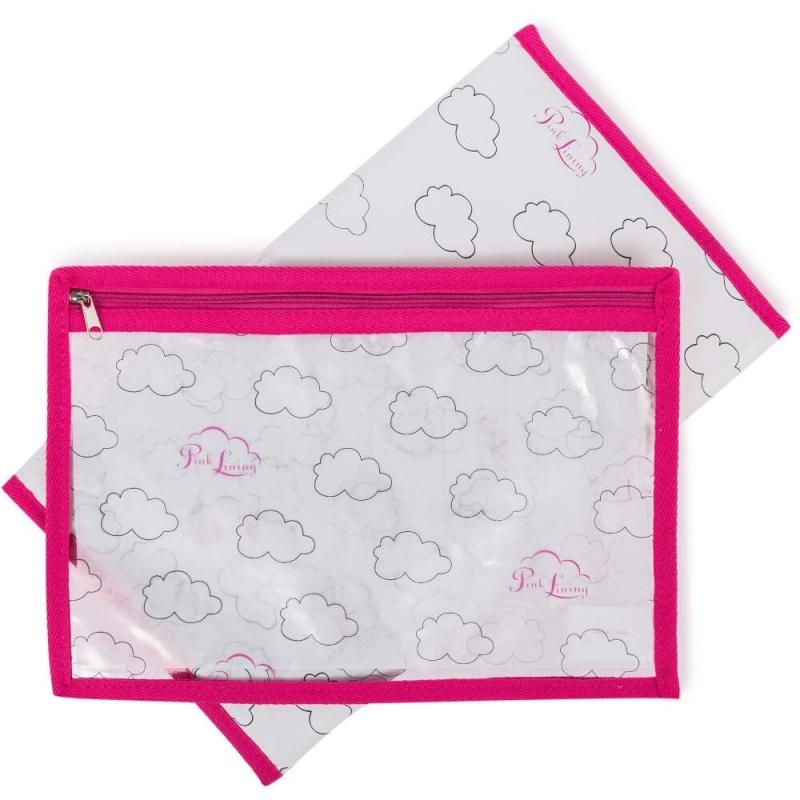 Pink Lining Change Mat & Wet Bag Set-Cloud