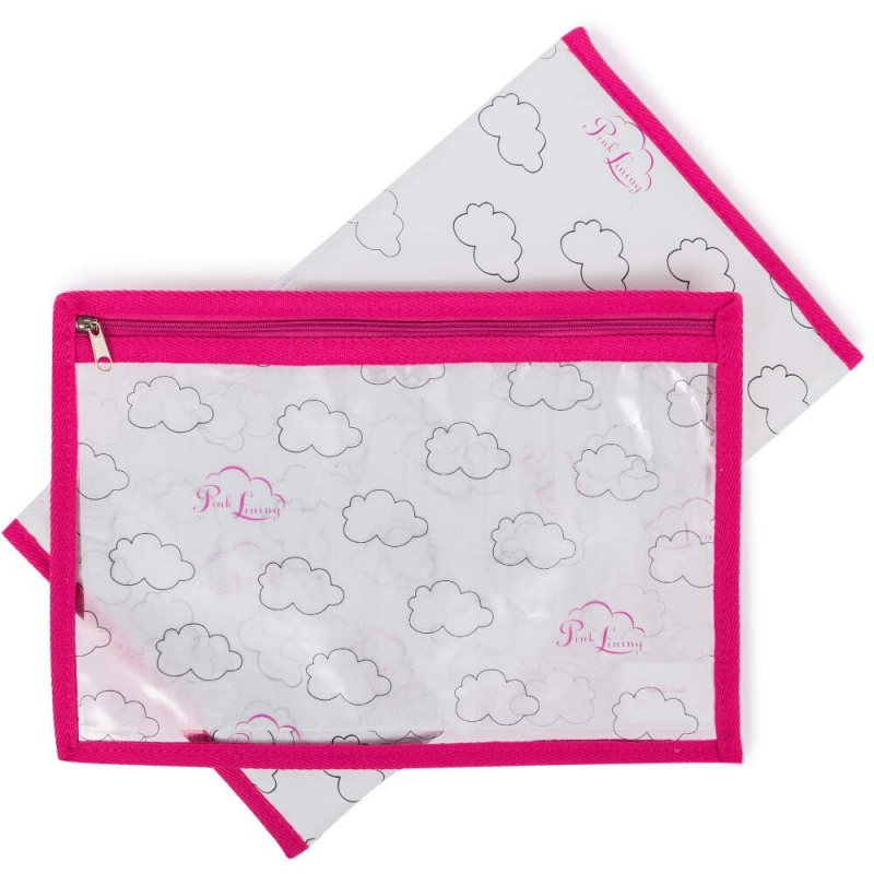 Pink Lining Change Mat & Wet Bag Set-Cloud