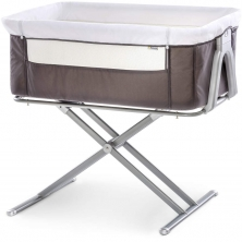 Hauck Face To Me Bedside Crib-Grey