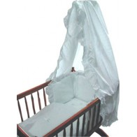 Broderie Anglaise 3 piece Swinging Crib Set-White
