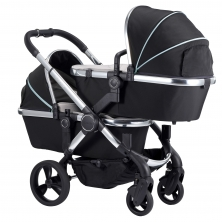 iCandy Peach Chrome Blossom Twin Pushchair-Beluga (New)
