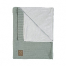 Kidsmill Knitted Green Babyblanket for Cot Bed