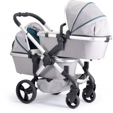 iCandy Peach Satin Blossom Twin Pushchair-Dove Grey (New)