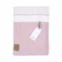 Kidsmill Knitted Pink Bedding for Cot Bed