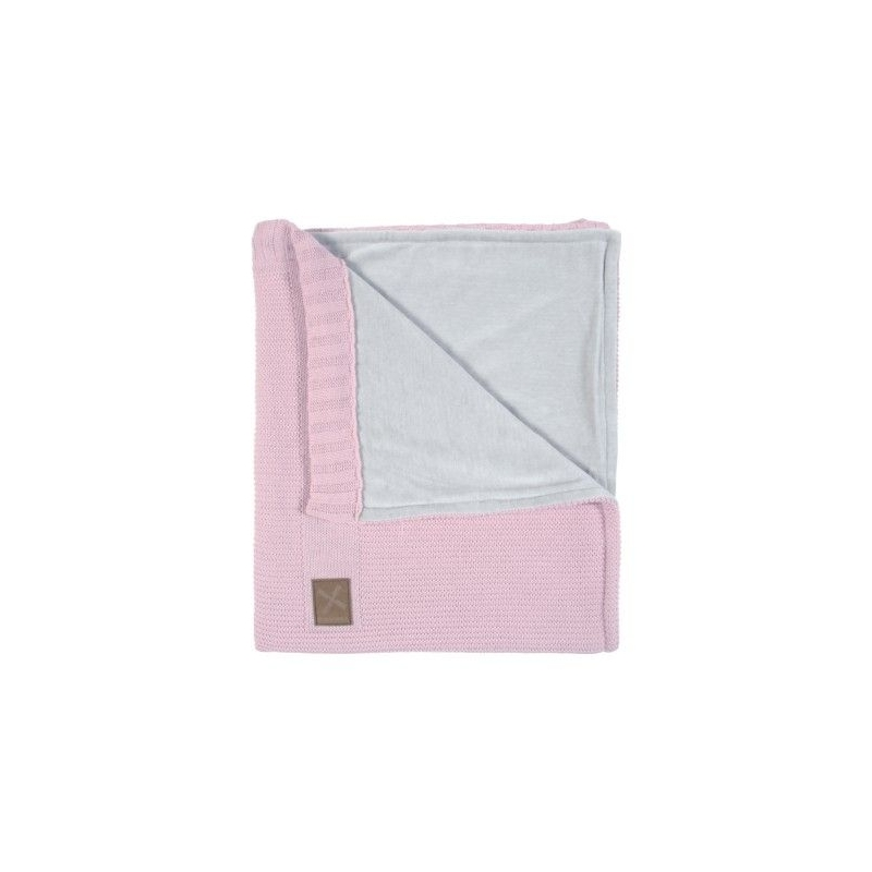 Kidsmill Knitted Pink Babyblanket for Cot Bed