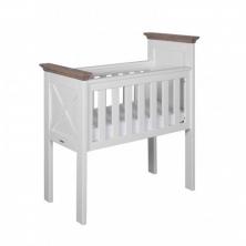 Kidsmill Savona Crib with Cross-White/Grey