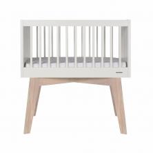 Kidsmill Sixties Crib-White Matt/Oak
