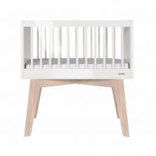 Kidsmill Sixties Crib-White Glossy/Oak