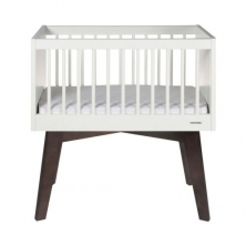 Kidsmill Sixties Crib-White Matt/Pine