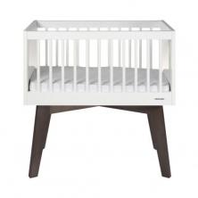 Kidsmill Sixties Crib-White Glossy/Pine