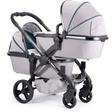 iCandy Peach Phantom Blossom Twin Pushchair-Dove Grey (New)