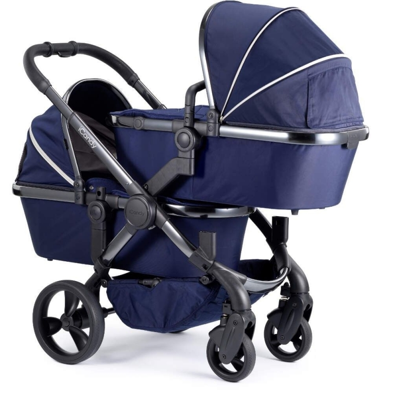 iCandy Peach Phantom Blossom Twin Pushchair-Indigo (New)