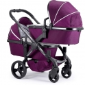 iCandy Peach Phantom Blossom Twin Pushchair-Damson (New)