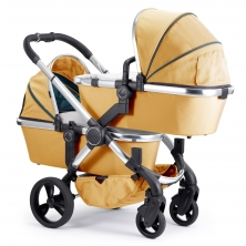iCandy Peach Chrome Blossom Twin Pushchair-Nectar (New)
