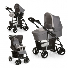 Hauck Shopper SLX Trio Set Travel System-Stone/Grey