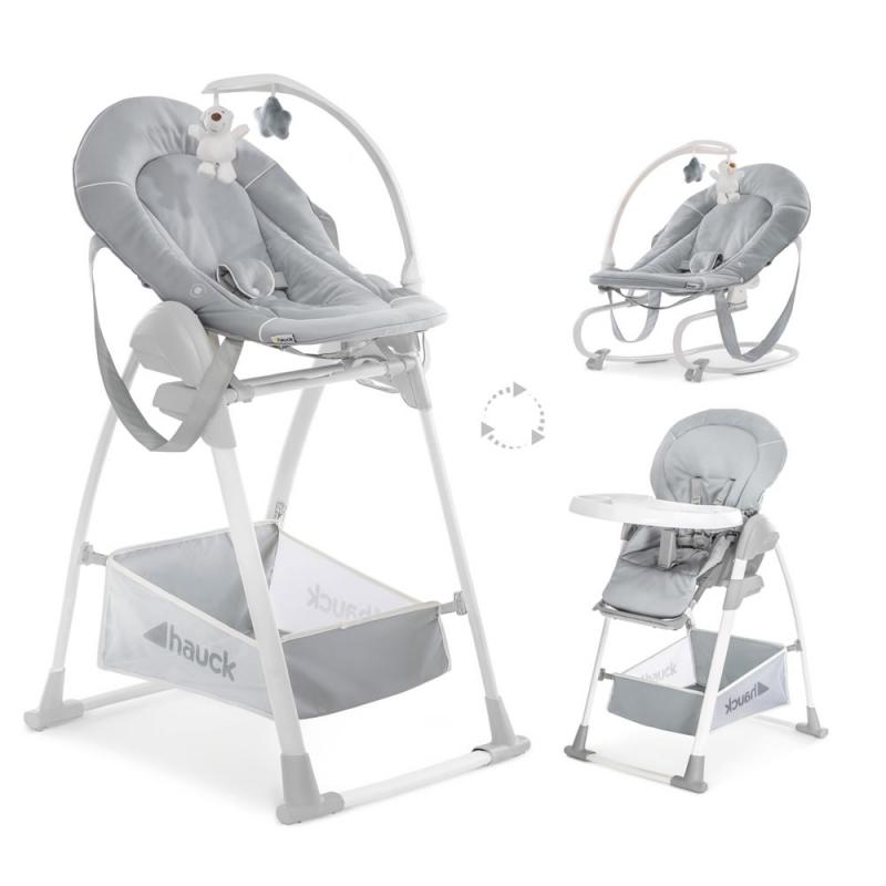 Hauck Sit n Relax 3in1 Highchair-Stretch Grey