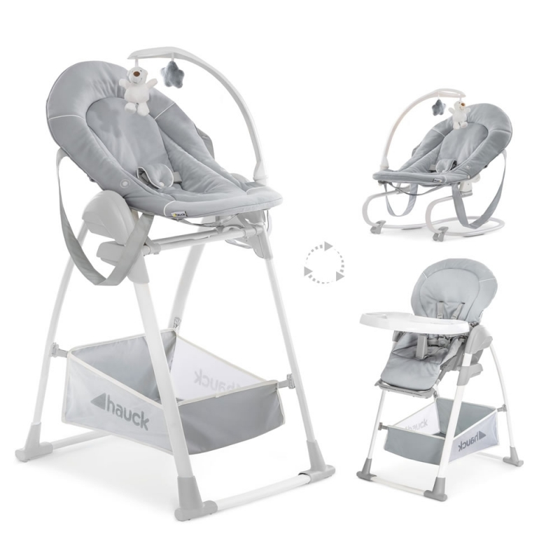 Hauck Sit n Relax 3in1 Highchair-Stretch Grey