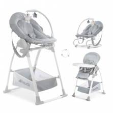 Hauck Sit n Relax 3in1 Highchair-Stretch Grey (New 2018)